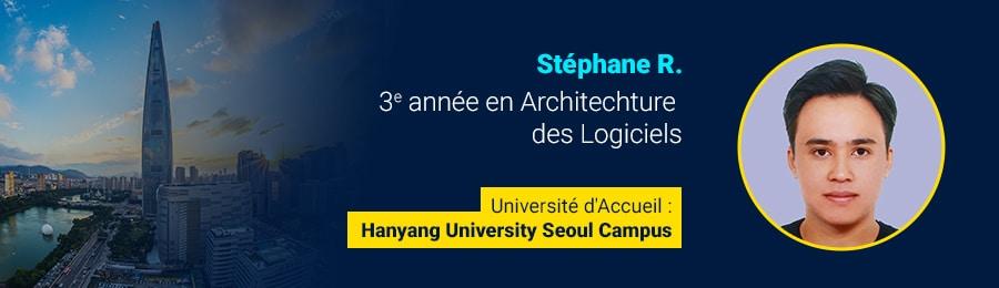 Stéphane R - étudiant à l'étranger