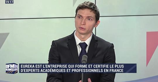 BFM Business, interview d'Alexandre David PDG d'Eureka Certification